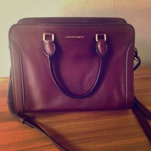 Alexander McQueen NEW Leather Burgundy Purse